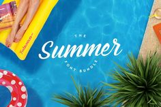 Summer Font Bundle--40 fonts for 95% off! Less than 24 hours left! Expires July 20 at 10 am EST!! Fancy Fonts, Cool Fonts, New Fonts, Awesome Fonts, Ocean Font, Summer Font, Character Map, Beach Design, Modern Fonts