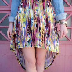 High Low Watercolor Dress