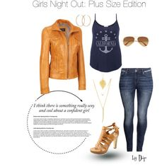 Girls Night Out: Plus Size Edition by dop37 on Polyvore featuring maurices, Black Rivet, H&M, GUESS, CC SKYE, Pernille Corydon, Ray-Ban and plus size clothing