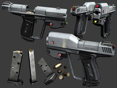M6B - Halo Reach Magnum by Chief-01