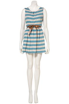 Stripe Belted Dress by Wal G** - Topshop