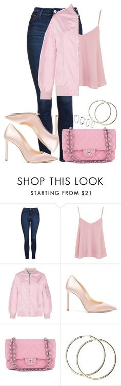 """Sem título #56"" by trmaisa ❤ liked on Polyvore featuring Topshop, Jimmy Choo, Chanel and H&M"