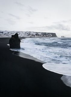 Road trip en Islande en hiver - Plage de sable noir - Vik, Dyrholaey