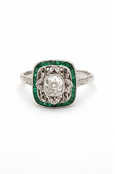 11 Vintage Engagement Rings We Wish Prince Harry Would Give Us #refinery29 http://www.refinery29.com/55367#slide-10 Kamofie Going Green Ring, $6,500, available at Kamofie.