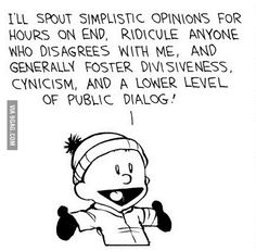 Calvin's saying..