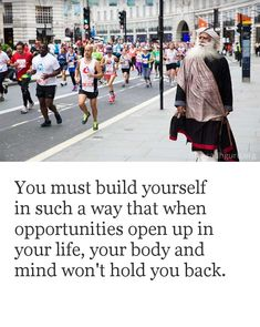You must build yourself in such a way that when opportunities open up in your life, your body and mind won't hold you back. Soft Heart Quotes, Reality Quotes, Life Quotes, Mystic Quotes, Free Guided Meditation, Motivational Quotes, Inspirational Quotes, Qoutes About Love, Adventure Quotes