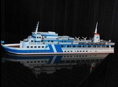A Research Ship Paper Model Free Template Download - http://www.papercraftsquare.com/a-research-ship-paper-model-free-template-download.html#ResearchShip, #Ship