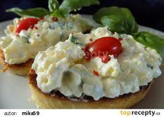Bazalková pomazánka s Cottage sýrem recept - TopRecepty. Baked Potato, Mashed Potatoes, Cottage, Baking, Ethnic Recipes, Food, Fitness, Diet, Bread Making