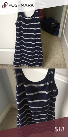 Comfy little blue and gray dress Hardly worn Forever 21 Dresses Mini