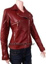 Red leather jacket on my wish list...FOREVER!