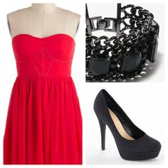 Day outfit What to Wear on Valentines Day quot;Out on the Townquot; - Cute Outfit Options by Through the Eyes of the Mrs. Cute Valentines Day Outfits, My Funny Valentine, Dresses For Teens, Club Dresses, Midi Dresses, Valentine's Day Outfit, Outfit Of The Day, Cool Outfits, Fashion Outfits