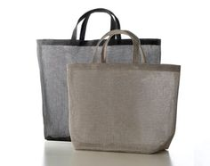 Woodnotes Beach Bag L and M. Woodnotes Accessories are made with Plain paper yarn fabric.
