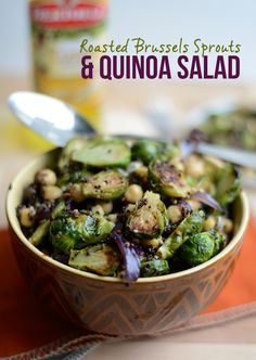 Roasted Brussels Sprouts and Quinoa Salad #thanksgiving #fitfluential