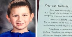 Mom was concerned when her son told her that he'd cried at school, but when she learned the reason why, she knew she had to share.