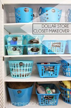 Hall Closet Makeover 27 Trendy Bath Room Closet Organization Dollar Stores Plastic Bins Your T Dollar Store Hacks, Dollar Store Crafts, Dollar Stores, Dollar Store Bins, Dollar Dollar, Dollar Items, Linen Closet Organization, Organization Hacks, Organizing Ideas