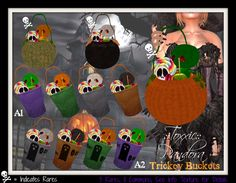 ::Toxxic:: Pandora Halloween Trickey Buckets