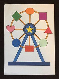 Fun printable worksheets for children to practice their shapes and colours. Educational Activities For Kids, Summer Activities For Kids, Classroom Activities, Preschool Activities, Carnival Activities, Carnival Games For Kids, Preschool Painting, Preschool Crafts, County Fair Theme