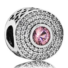 Strahlenkranz Charm Pandora rosa 925er Silber 791763NBP http://www.thejewellershop.com/ #pandora #rose #charm