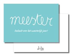 Bedank kaartje meester door JolisMots op Etsy