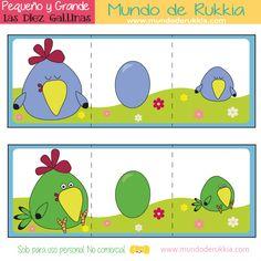 diez-gallinas-actividad Spanish Class, Activities For Kids, Homeschool, Kids Rugs, Education, Animals, Diana, Children's Literature, Short Stories