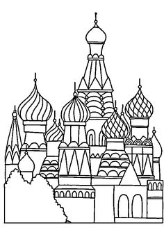 Inspiration or coloring page russia 39 s st basil s for Cathedral coloring pages
