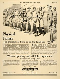 1918 Ad Wilson Sports Equipment Athletics Baseball Golf - ORIGINAL SEP4