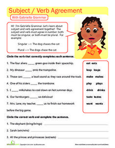 Great Grammar: Subject Verb Agreement, EDUCATİON, Check out this worksheet to help your third grader practice subject verb agreement. Pronoun Worksheets, English Grammar Worksheets, Grammar Lessons, Worksheets For Kids, Writing Worksheets, English Verbs, Learning Resources, Subject And Predicate, Subject And Verb