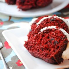 Red Velvet Chocolate Chip Bundt Cake: I am very excited about this because it is inspired by Nothing Bundt Cakes.