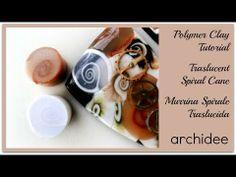 Polymer Clay Tutorial | Traslucent Spiral Cane | Murrina Spirale Traslucida | Easy | Principianti - YouTube by Archidee