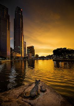 Singapore (Southeast Asia) at sunset .....  ASPEN CREEK TRAVEL - karen@aspencreektravel.com