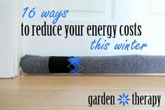 Ways to Reduce Energy Costs including these DIY draft stoppers made from socks!