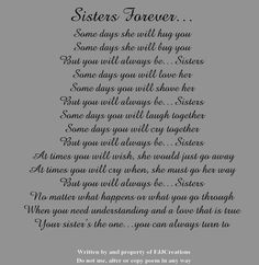 i love my sister quotes and poems FaQBVfffZ Little Sister Poems, Love My Sister, Little Sisters, Big Sister Quotes, Happy Sisters, Nephew Quotes, Daughter Poems, Lil Sis, Brother Sister