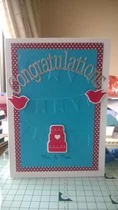 Congratulations Mr and Mrs Banner Wedding Card