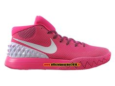Officiel Nike Kyrie 1 iD Chaussures Nike Basket-ball Pas Cher Pour Homme Pink - White 705277-600