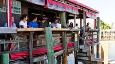 PETERSBURG The overwater Wharf restaurant is known for serving some of St. Pete Beach's best seafood. Florida Vacation, Florida Travel, Florida Beaches, Vacation Spots, Usa Travel, St Petes Beach Florida, St Petersburg Florida, St Pete Beach, Clearwater Beach