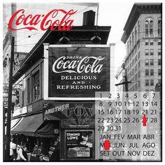 Calendário Magnético Coca Cola City