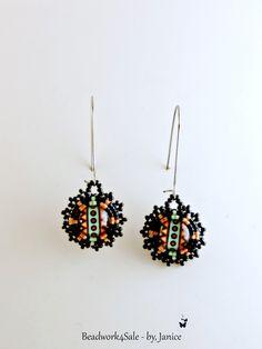 Neon Mandala ~ Summer Fashion ~ Handmade Beaded Earrings - pinned by pin4etsy.com