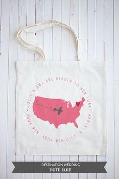 destination wedding tote bag