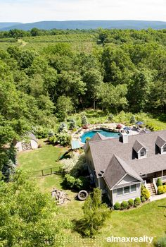 Luxury Hudson Valley Home with a Pool and Organic Garden for Sale - Rock Tavern, NY - Almax Realty Cooking Show Hosts, Shiplap Paneling, Energy Star Appliances, Glass French Doors, Summer Paradise, Jacuzzi Tub, Open Concept Kitchen, Bonus Rooms, Rustic Bathrooms