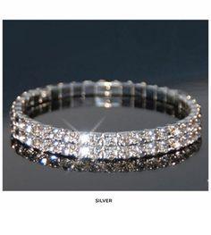 Set of 2 Swarovski Elements Austrian Crystal Bracelet - Save 92%