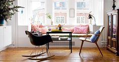 Zahara Dessert: Justifying my replica Eames RAR rocking chair purchase Salon Mid-century, Eames Rocking Chair, Mid Century Living Room, Scandinavian Interior Design, Deco Design, Home Renovation, Home Furniture, Living Spaces, Small Living