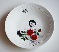 redecorated vintage plate, by celinda versluis