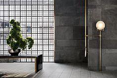 环球设计 Lobby Lounge, Lounge Design, Plant Art, Interior Walls, Ceiling Lamp, Glass Door, Wall Design, Floor Lamp, Lights