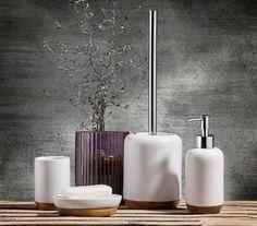 Set 4 accesorii baie din ceramica, Kj #homedecor #interiordesign #inspiration #bathroom #bathroomdecor Soap Dispenser, Sink, Interior, Bathroom Inspiration, Design, Bedroom, Home Decor, Metal, Flowers