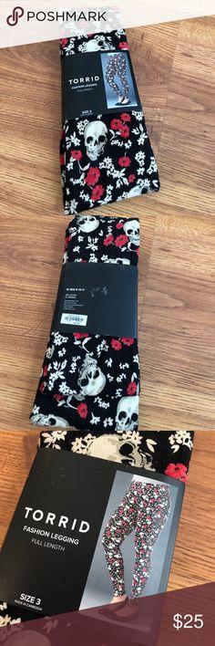 BNWT Torrid Skull & Floral Leggings   Brand New! Never Worn!! Awesome Leggings! torrid Pants Leggings