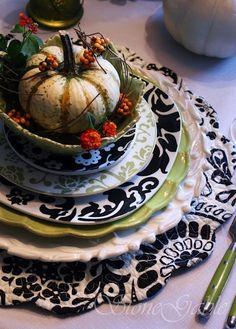 A beautiful fall table setting
