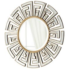 Clear and Gold Cleopatra Mirror by Cyan Design