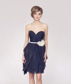 Love the neckline of this bridesmaid dress