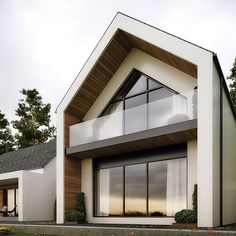 The Dromintee replacement house is at the foot of Slieve Gullion Forest Park, Newry, County Armagh designed by Ballymena Architects Slemish Design Studio. Modern Barn House, Modern Cottage, Modern House Design, Modern Wooden House, Modern House Facades, Bungalow Renovation, Bungalow Exterior, Bungalow Extensions, House Extensions