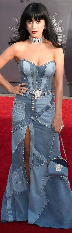 LOOKandLOVEwithLOLO: 2014 MTV Video Music Awards Red Carpet and Performances ~ Denim fashion dress